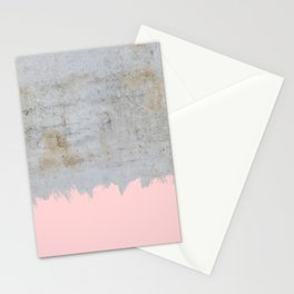 Paint with pink on concrete Stationery Cards