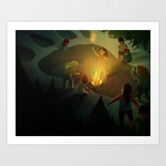 The Giant! Art Print