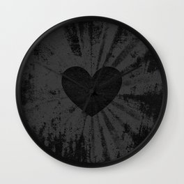 Black heart Wall Clock