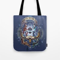 borderlands Tote Bags featuring Tales from the Borderlands - Do it for Her by animatenowsleeplater