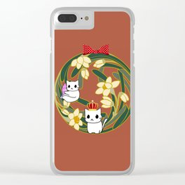 cats-84 Clear iPhone Case