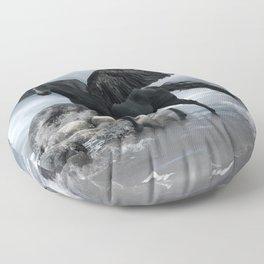 Black Pegasus Floor Pillow
