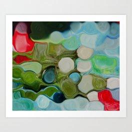 Manipulated buds in greenish Art Print