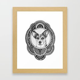 Portrait of a Mutt Framed Art Print