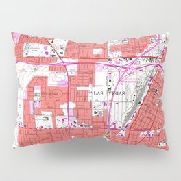 Vintage Map of Las Vegas Nevada (1967) Pillow Sham