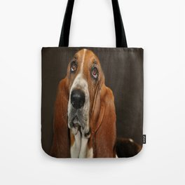 Lost In Thought Basset Hound Dog Tote Bag