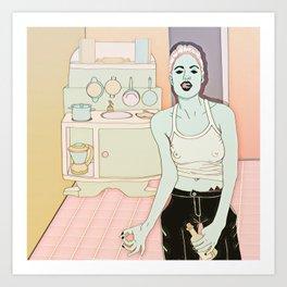 Jolie kitchen Art Print