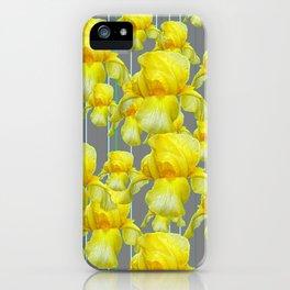 OODLES OF YELLOW IRIS GREY GARDEN ART iPhone Case