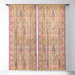 Kerman South Persian Garden Rug Print Sheer Curtain