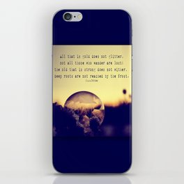Bubble at Sunrise iPhone Skin
