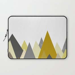 Mountains Mustard yellow Gray Neutral Geometric Laptop Sleeve