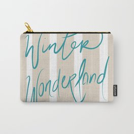 Winter Wonderland with Classic Gold Carry-All Pouch