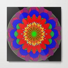 Flower Wedding Cake Mandala Metal Print