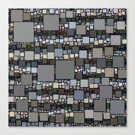 Retro Squared Pattern Canvas Print