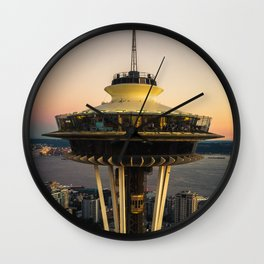 Space Needle (close-up) Wall Clock