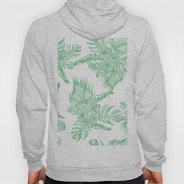 Island Tropical Green White Jungle Hoody