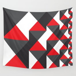 Geometric Pattern #20 (red triangles) Wall Tapestry