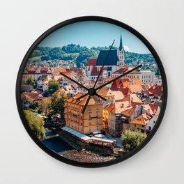 Cesky Krumlov old town Wall Clock