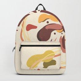 Flower beige brown illustration nature Backpack