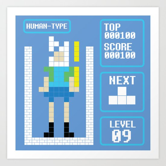 TETRIS: Human Type Art Print