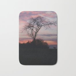 A Buck At Sunset Bath Mat