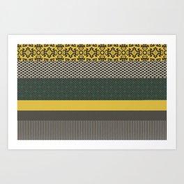 yellow multipattern longitudinal Art Print