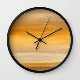 Acrylic Abstract Painting Sunny Day Wall Clock