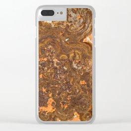 Rust Clear iPhone Case
