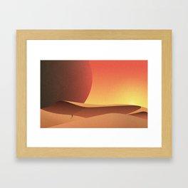 Intergalactic Sunset Framed Art Print