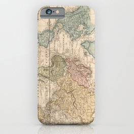 Vintage Map of The World (1823) V.2 iPhone Case