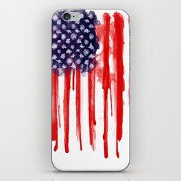 American Spatter Flag iPhone Skin