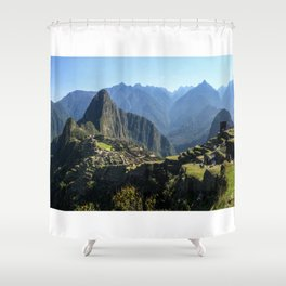 Machu Picchu Panorama Shower Curtain