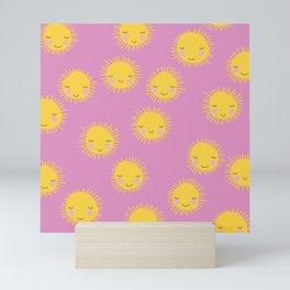 Little sunny sunshine love summer sky girls pink Mini Art Print