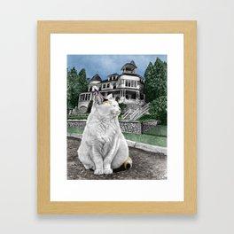 Mackinac Island Cat Framed Art Print