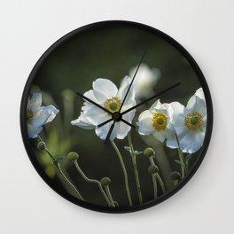 Graceful Anemones, No. 2 Wall Clock