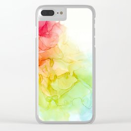 Study in Rainbow Clear iPhone Case