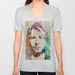 Nirvana art on dictionary #2 Unisex V-Neck