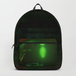Nightly riverside, fog, lanterns ... Backpack