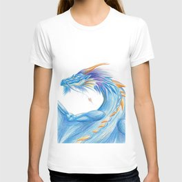 Blue Blaze Dragon T-shirt