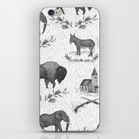 political iPhone & iPod Skins featuring Political Toile by Jessica Roux