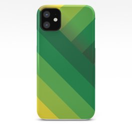 Stripes (green/yellow) iPhone Case