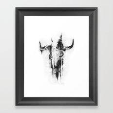 Bull Skull Framed Art Print