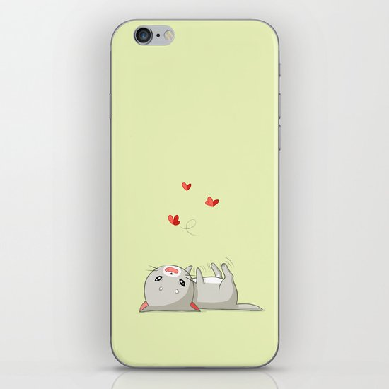 Playing Kitten iPhone & iPod Skin