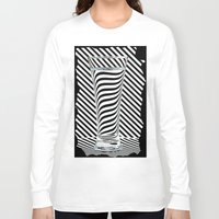 striped Long Sleeve T-shirts featuring Striped Water by Steve Purnell