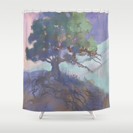 The Last of the Poppies Shower Curtain