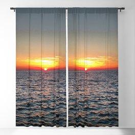 summer sunset at peroj beach croatia istria Blackout Curtain