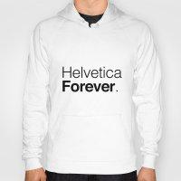 helvetica Hoodies featuring helvetica by muffa