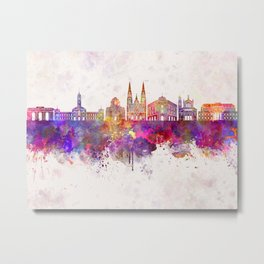 La Plata skyline in watercolor background Metal Print