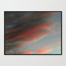 Moon and Sunset Canvas Print