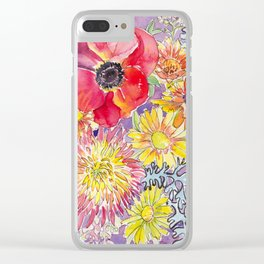 Mum and Poppy Clear iPhone Case